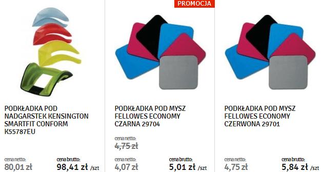 kolorowe podkładki pod mysz